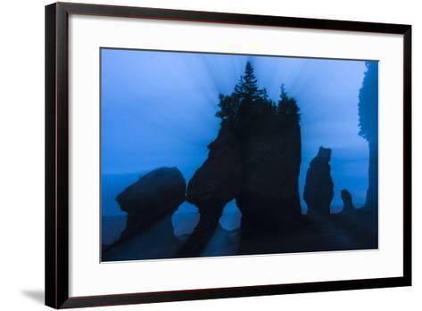 An Artistic Shot of the Hopewell Cape Rocks, Silhouetted at Dusk-Jonathan Irish-Framed Art Print
