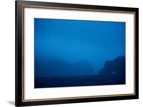 A Boat Moors for the Night in the Harbor-Ben Horton-Framed Art Print