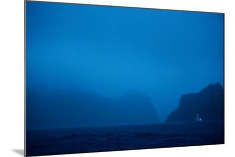 A Boat Moors for the Night in the Harbor-Ben Horton-Mounted Photographic Print