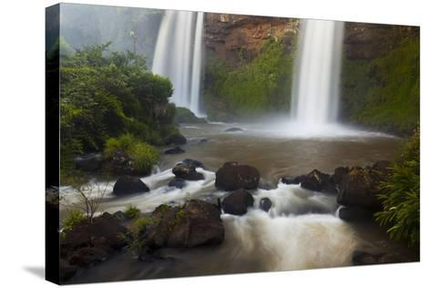 Small Cascades End in a Pool at Iguazu Falls-Ralph Lee Hopkins-Stretched Canvas Print