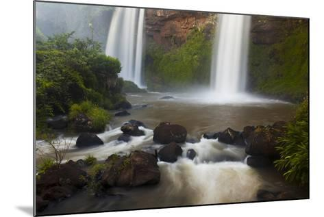 Small Cascades End in a Pool at Iguazu Falls-Ralph Lee Hopkins-Mounted Photographic Print