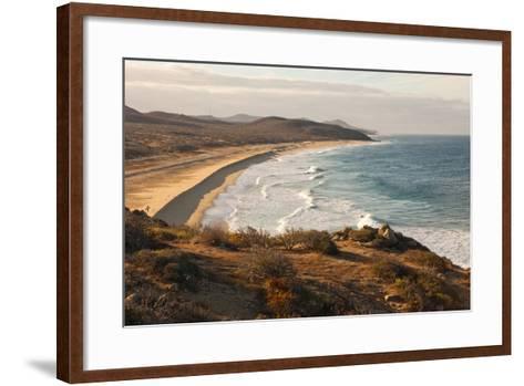 A Barely Visible Surfer on a Wave-Ben Horton-Framed Art Print