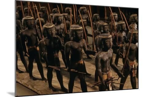 Wooden Nubian Archers from Tomb of Mesehti-Kenneth Garrett-Mounted Photographic Print