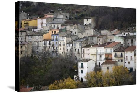 The Small Hillside Town of Prezza Near Pratola Peligna, Italy-Scott S^ Warren-Stretched Canvas Print