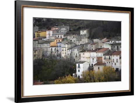 The Small Hillside Town of Prezza Near Pratola Peligna, Italy-Scott S^ Warren-Framed Art Print