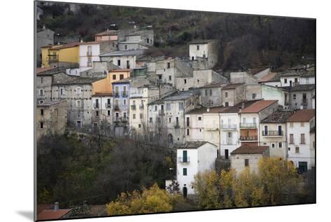 The Small Hillside Town of Prezza Near Pratola Peligna, Italy-Scott S^ Warren-Mounted Photographic Print