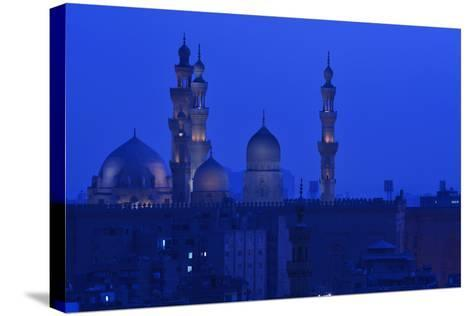Minarets of Sultan Hassan and Rifai Mosques in Old Cairo-Kenneth Garrett-Stretched Canvas Print