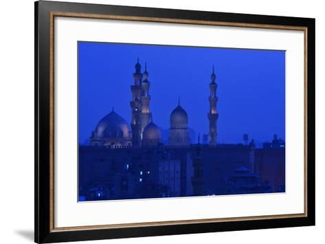 Minarets of Sultan Hassan and Rifai Mosques in Old Cairo-Kenneth Garrett-Framed Art Print