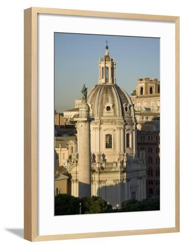 The Basilica Di San Marco and Trajan's Column in Rome-Scott S^ Warren-Framed Art Print