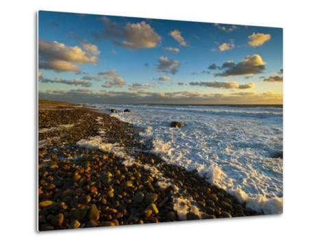 Sunset Along Moshup Beach, Martha's Vineyard with View of Ocean-James Shive-Metal Print