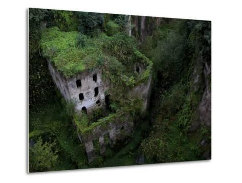Sorrento, Italy: the Old Mill Located Near the Heart of Sorrento.-Ian Shive-Metal Print