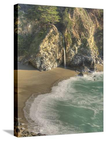 Mcway Falls at Julia Pfeiffer Burns State Park on the Big Sur Coast of California-Kyle Hammons-Stretched Canvas Print