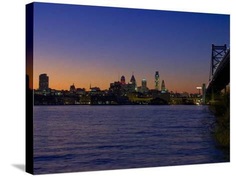 Philadelphia Skyline at Dusk-James Shive-Stretched Canvas Print