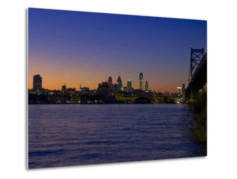 Philadelphia Skyline at Dusk-James Shive-Metal Print