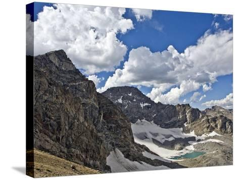 Peaks and Frozen Lakes in the High Country of Indian Peaks Wilderness, Colorado-Andrew R. Slaton-Stretched Canvas Print