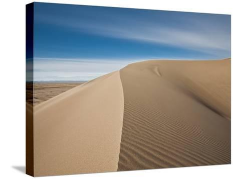 Great Sand Dunes, Co: a Sandy Ridge Line Vanishes into the Horizon-Brad Beck-Stretched Canvas Print