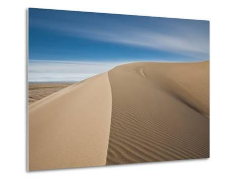 Great Sand Dunes, Co: a Sandy Ridge Line Vanishes into the Horizon-Brad Beck-Metal Print