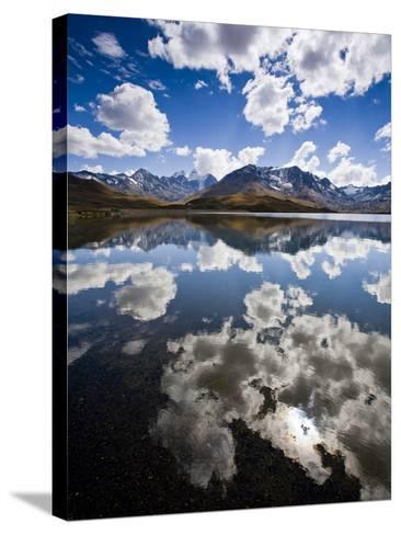 Reflections of Mt. Tuni Condoriri in the Cordillera Real, Bolivi-Sergio Ballivian-Stretched Canvas Print