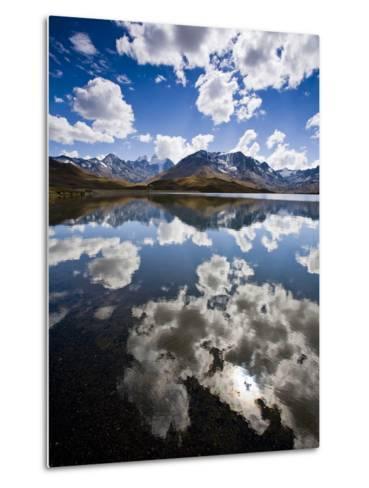 Reflections of Mt. Tuni Condoriri in the Cordillera Real, Bolivi-Sergio Ballivian-Metal Print