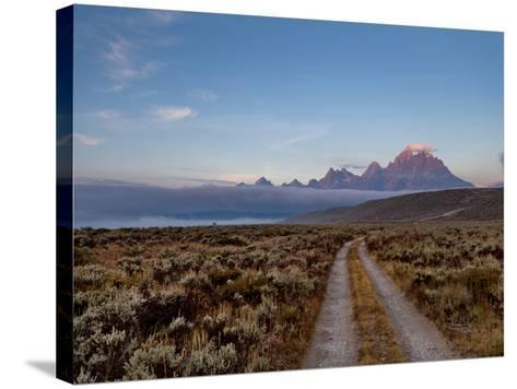 The River Road and Tetons on the Morning Light. Grand Teton National Park, Wyoming.-Andrew R. Slaton-Stretched Canvas Print