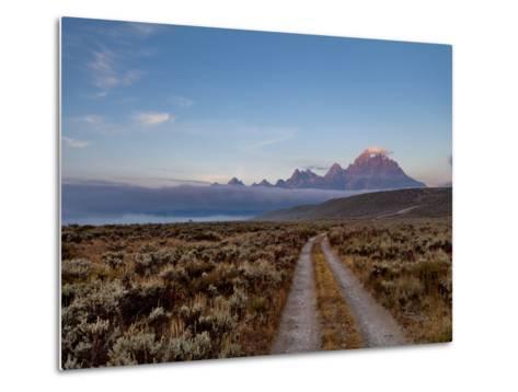 The River Road and Tetons on the Morning Light. Grand Teton National Park, Wyoming.-Andrew R. Slaton-Metal Print