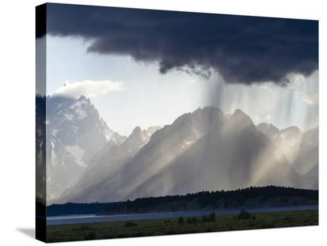 Sunlight and Rain over Tetons-Mike Cavaroc-Stretched Canvas Print