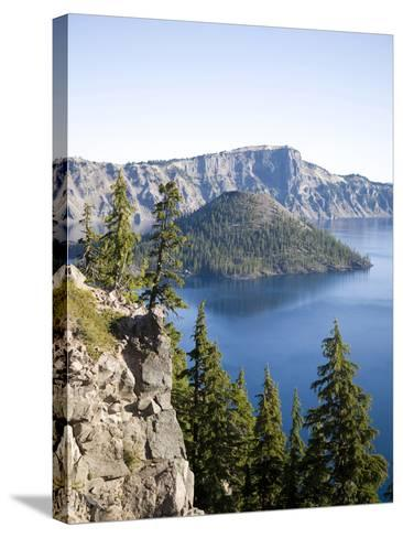 Scenic Image of Crater Lake National Park, Or.-Justin Bailie-Stretched Canvas Print
