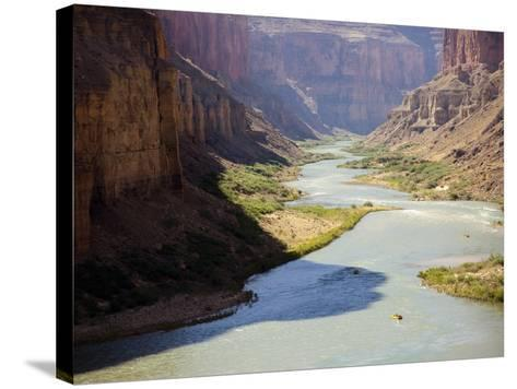 View from Nankoweap Overlook While Rafting the Grand Canyon. Grand Canyon National Park, Az.-Justin Bailie-Stretched Canvas Print