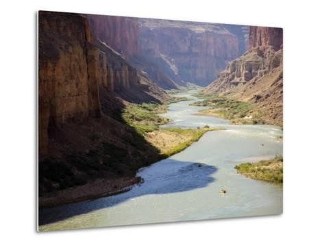 View from Nankoweap Overlook While Rafting the Grand Canyon. Grand Canyon National Park, Az.-Justin Bailie-Metal Print