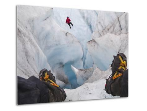 Ice Climbing-Ethan Welty-Metal Print