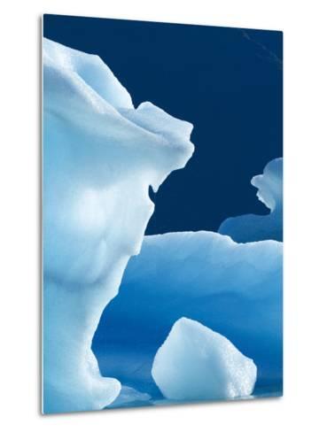 Icebergs Floating in Alsek Lake. Glacier Bay National Park, Ak.-Justin Bailie-Metal Print