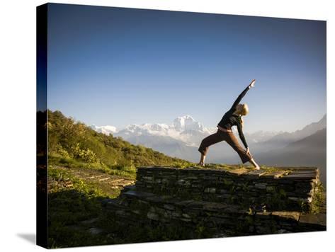 Anapurna Circuit, Ghorepani, Nepal-Dan Holz-Stretched Canvas Print
