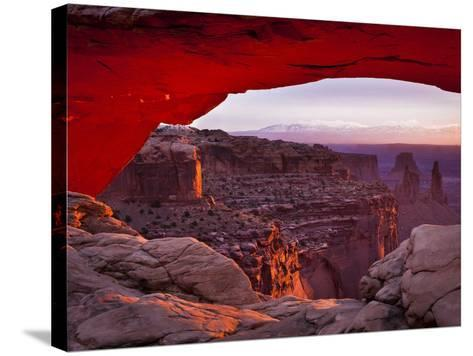 Mesa Arch in Canyonlands National Park-Mike Cavaroc-Stretched Canvas Print