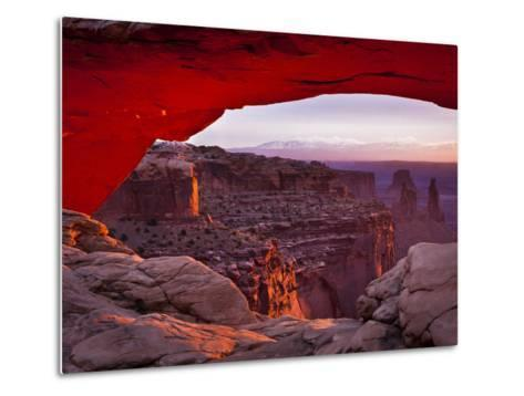 Mesa Arch in Canyonlands National Park-Mike Cavaroc-Metal Print