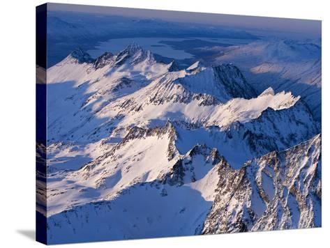 Morning Light on the Chigmit Mountains, a Subrange of the Aleutians.-Ian Shive-Stretched Canvas Print