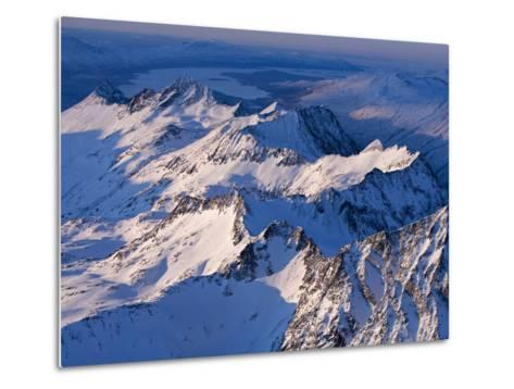 Morning Light on the Chigmit Mountains, a Subrange of the Aleutians.-Ian Shive-Metal Print