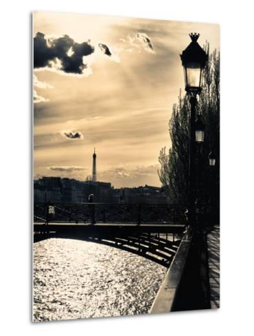 Sunset - Pont des Arts - Paris - France-Philippe Hugonnard-Metal Print