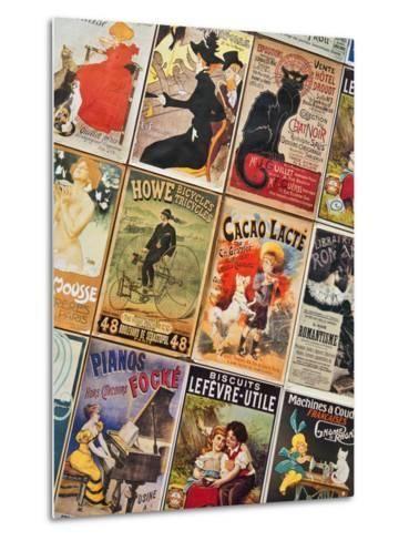 Old French Postcards - Gallery - Montmartre - Paris - France-Philippe Hugonnard-Metal Print
