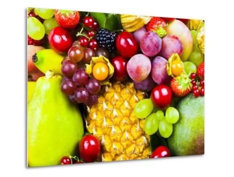 Close up of Fresh Fruits - Fruit assortments - Fruits and Vegetables-Philippe Hugonnard-Metal Print