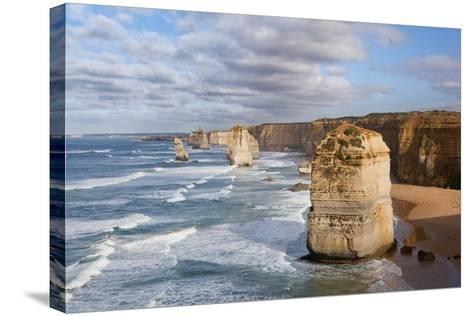 Coastline, 12 Apostles, Great Ocean Road, Port Campbell Np, Victoria, Australia-Martin Zwick-Stretched Canvas Print