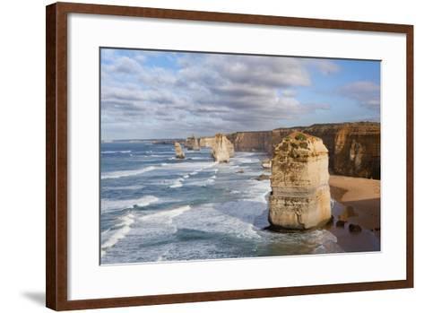 Coastline, 12 Apostles, Great Ocean Road, Port Campbell Np, Victoria, Australia-Martin Zwick-Framed Art Print