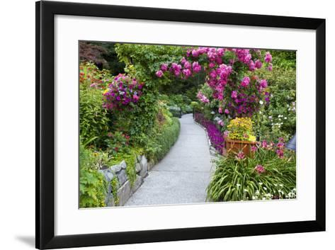 Rose Garden at Butchard Gardens in Full Bloom, Victoria, British Columbia, Canada-Terry Eggers-Framed Art Print