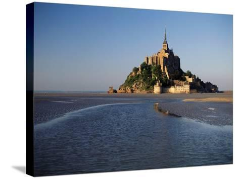 View of Mont Saint-Michel, Normandy, France-David Barnes-Stretched Canvas Print