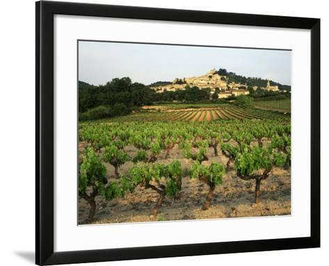 View of Provence Vineyard, Luberon, Bonnieux, Vaucluse, France-David Barnes-Framed Art Print