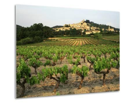 View of Provence Vineyard, Luberon, Bonnieux, Vaucluse, France-David Barnes-Metal Print