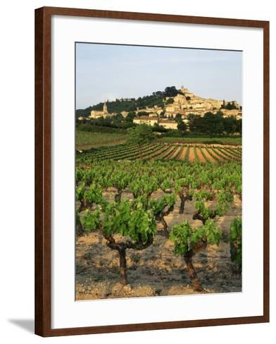 View of Provence Vineyard, Luberon, Bonnieux, Vaucluse, France-David Barnes-Framed Art Print