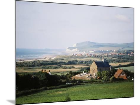 View of Houses Along Coastline, Pas-De-Calais, France-David Barnes-Mounted Photographic Print