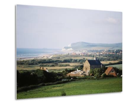 View of Houses Along Coastline, Pas-De-Calais, France-David Barnes-Metal Print