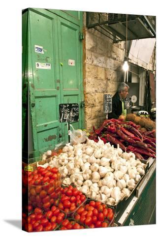 Machne Yehuda Market, Jerusalem, Israel-David Noyes-Stretched Canvas Print