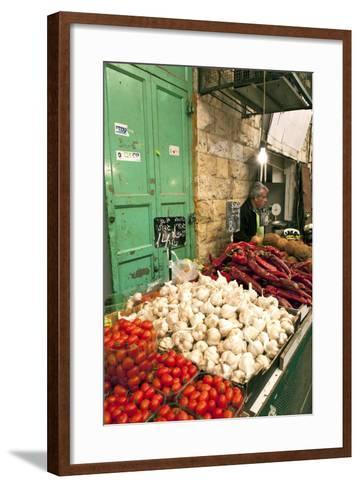 Machne Yehuda Market, Jerusalem, Israel-David Noyes-Framed Art Print